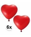 Rode ballonnen hartjes 6 stuks