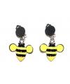 Bijen oorbellen met clip on