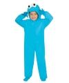 Blauw koekjes monster pak voor kinderen
