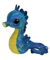 Blauw pluche knuffel zeepaardje 15 cm