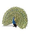 Plastic blauwe pauw 11 cm