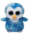 Pluche Ty Beanie pinguin paars 15 cm