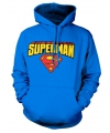 Blauwe capuchon sweater Superman