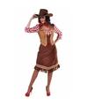 Cowgirl jurk met geruite blouse voor dames