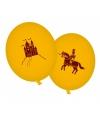 Ridderfeest ballonnen geel