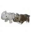 Grote neushoorn knuffel grijs