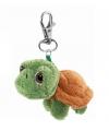 Groen knuffel schildpadje sleutelhanger
