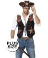 Grote maat cowboy vest voor heren