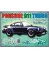 Metalen funplaten Porsche 911 Turbo