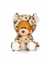 Keel Toys pluche beer knuffel in luipaard onesie 14 cm
