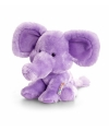 Keel Toys pluche olifant knuffel paars 14 cm