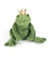 Knuffel kikker met kroon 18 cm