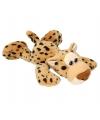 Pluche luipaard liggend met kraaloogjes 33 cm