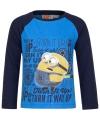Minion t-shirt blauw met navy