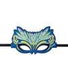 Pauwen oogmasker groen