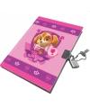 Paw Patrol dagboek roze