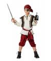 Feest piraten kleding rood/zwart voor jongens