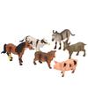 Boerderij dieren plastic  6 stuks
