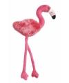 Pluche flamingo magneet roze 23 cm
