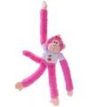 Apen knuffeldieren roze 40 cm