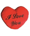 Pluche I Love You kussens 60 cm