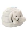 Iglo knuffel met ijsbeer 28 cm