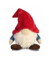 Pluche kabouter knuffel rode muts 19 cm