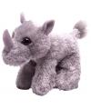 Knuffeldiertje neushoorn pluche grijs 18 cm