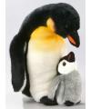 Pluche knuffel pinguin met jong 32 cm