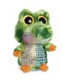Groene krokodillen knuffel 20 cm met grote ogen