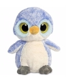 Blauwe pinguin knuffel 28 cm met grote ogen