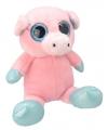 Pluche varken knuffel 28 cm roze