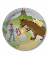 Draken en ridders print borden 8 stuks