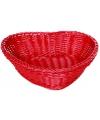 Hartvormige rotan mand rood