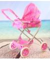 Roze poppenwagentje met verstelbaar handvat
