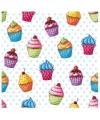 Cupcakesprint servetjes 20 x