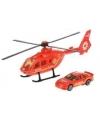 Rode reddingshelikopter en auto set