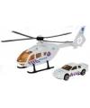 Witte reddingshelikopter en auto set