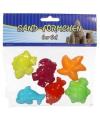 Speelgoed zeedieren zandvormpjes 6 stuks