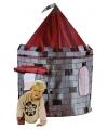 Kindertent kasteel grijs/rood