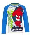 Spiderman t-shirt wit met blauw