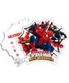 Kinderfeestje Spiderman Warriors uitnodigingen