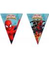 Kinderfeestje Spiderman Warrior vlaggetjeslijn