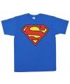 Blauw heren t-shirt Superman logo