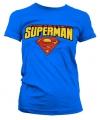 Blauw girly t-shirt Superman