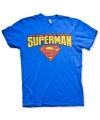 Blauw heren t-shirt Superman