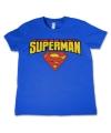 Blauw kinder t-shirt Superman
