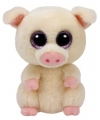 Ty Beanie Boo's Piggley pluche roze varkentje knuffel  15 cm
