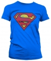 Blauw girly t-shirt Superman logo gewassen