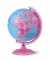 Roze globe met verlichting 25 cm